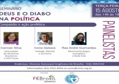 """Seminário """"DEUS E O DIABO NA POLITICA – compaixão e ação profética """""""